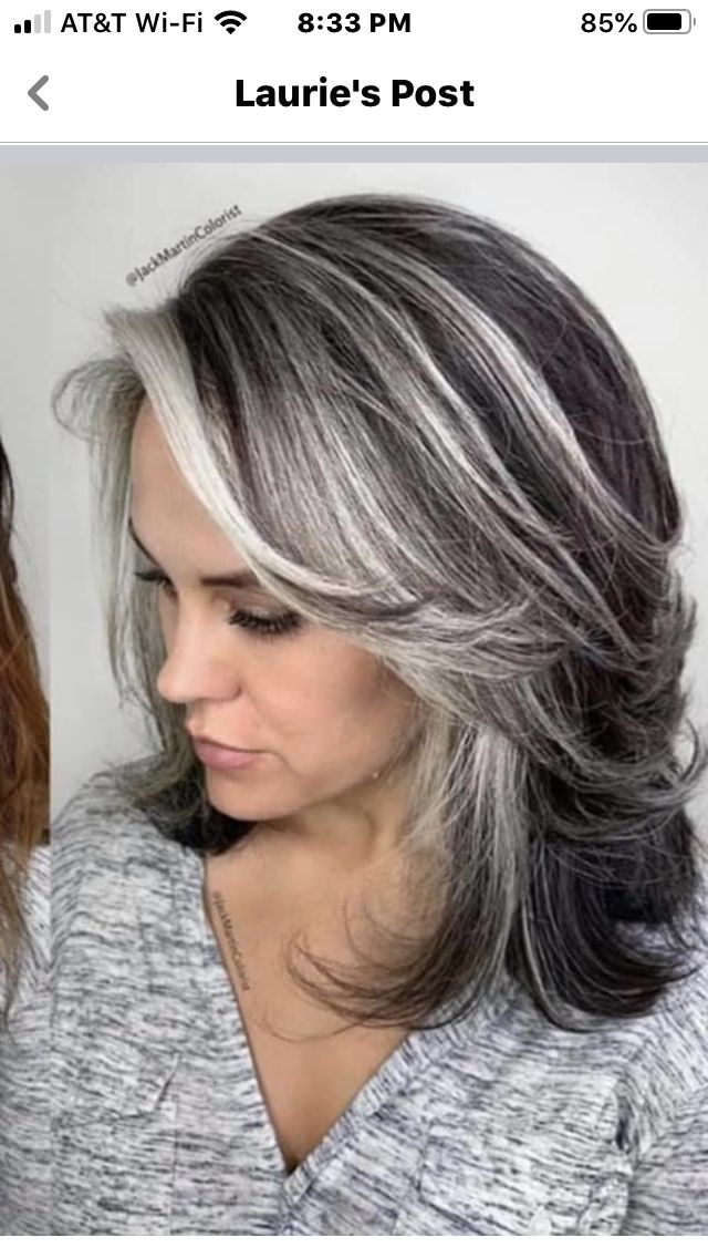 pin on grey hair styles