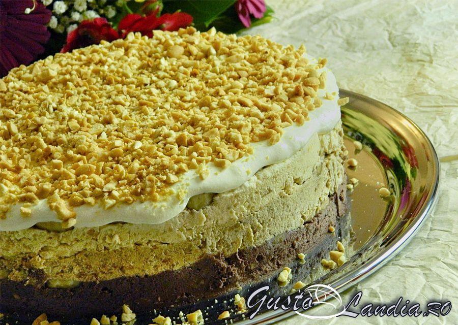 Tort cu alune si banane (tort de gheata)