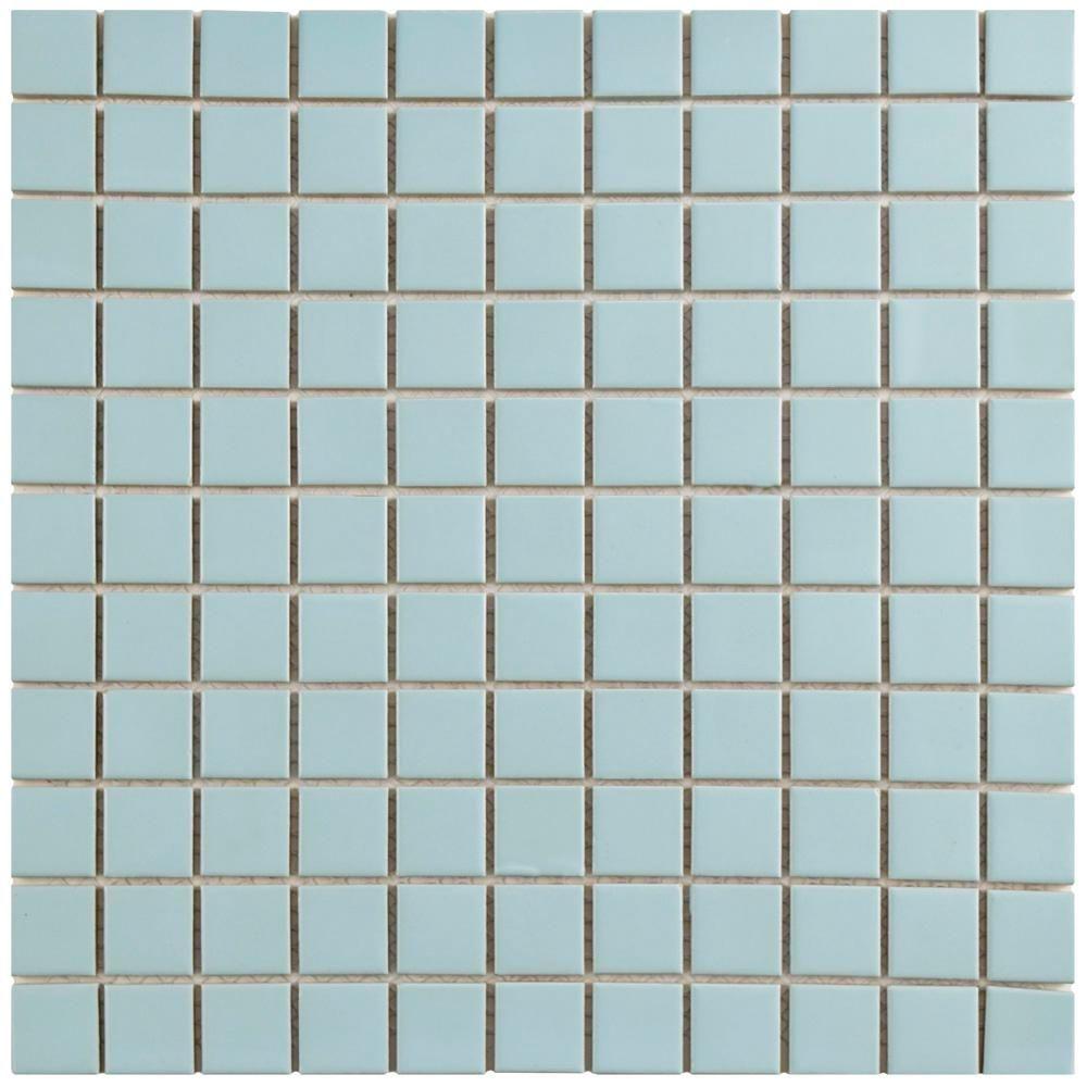 Merola Tile Spectrum Square Fresh 11 3 4 In X 11 3 4 In X 4 Mm Glass Mosaic Tile Gdxssqf Mosaic Glass Mosaic Wall Tiles Glass Mosaic Tiles