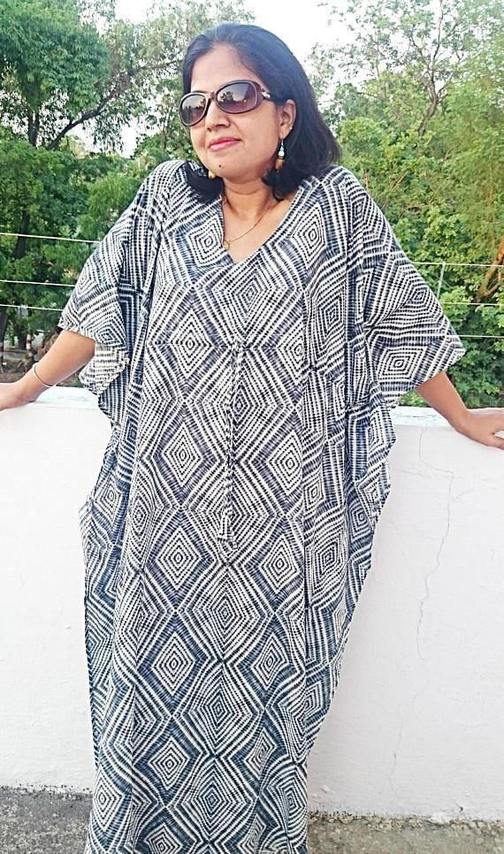 406a48ca0709c FOR LATEST OFFERS AND DISCOUNTS, PLEASE VISIT HOME PAGE OF THE SHOP  Shibhori print GREY / BLUE colored kaftan- available both in nursing and  nonnursing ...