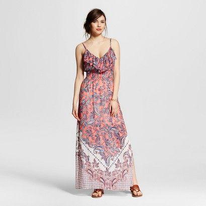 Women's Printed Maxi Dress Coral/Mint - 3Hearts (Juniors')