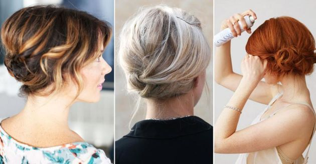 håruppsättning axellångt hår