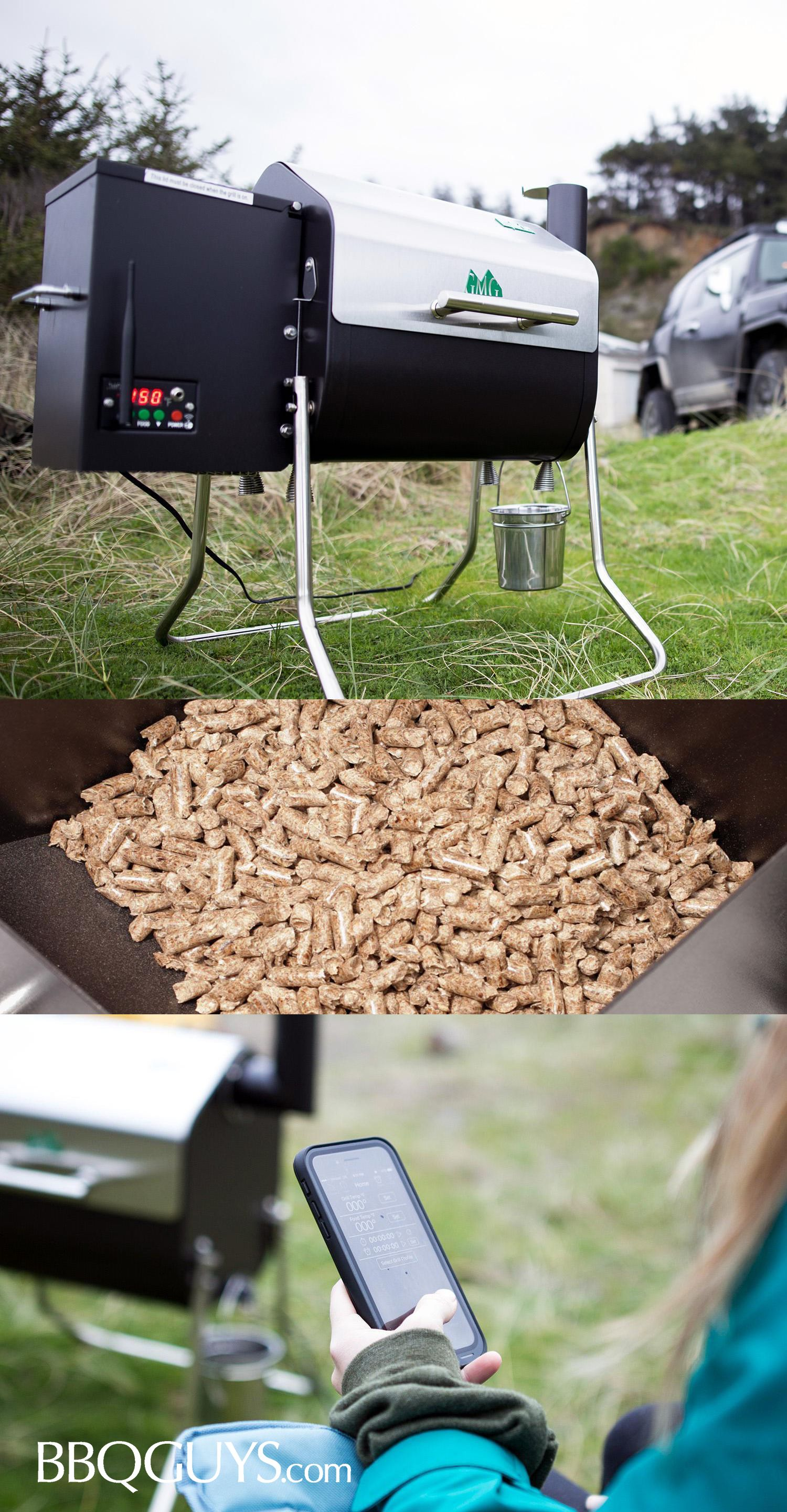 Green Mountain Grills Davy Crockett Wifi Controlled Portable Wood Pellet Grill Dcwf Bbqguys Green Mountain Grills Wood Pellet Grills Green Mountain