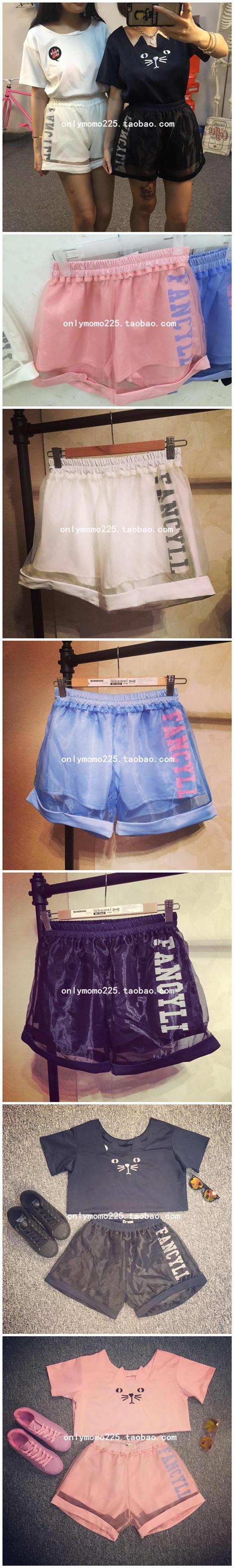 日本原宿zipper ayumi 軟妹古著暗黑少女學院風拼接網紗字母短褲-淘寶台灣,萬能的淘寶