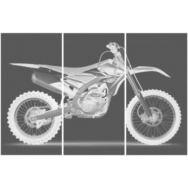 Yamaha Yz 450 F Dirt Bike Motorcycle Screen Print Wood Stain
