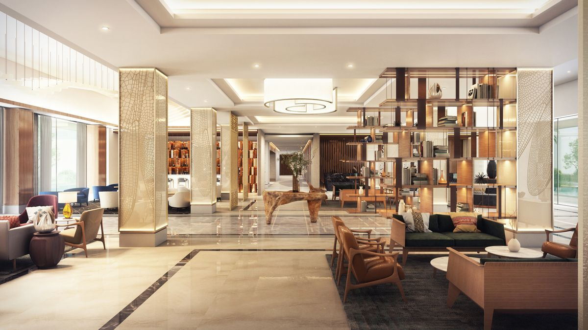 Bahir Dar Hilton Ethiopia Hotel Lobby Interior Design Decor