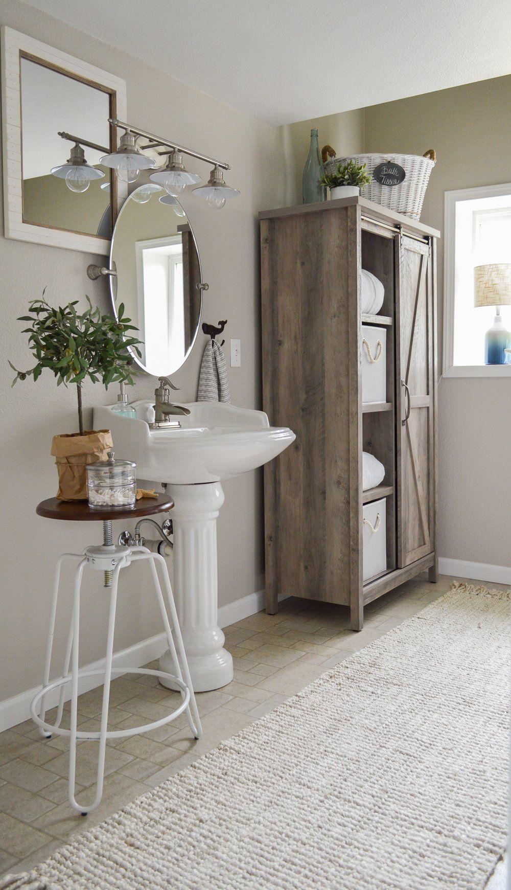 The Little Cottage Bathroom Makeover Beach house decor