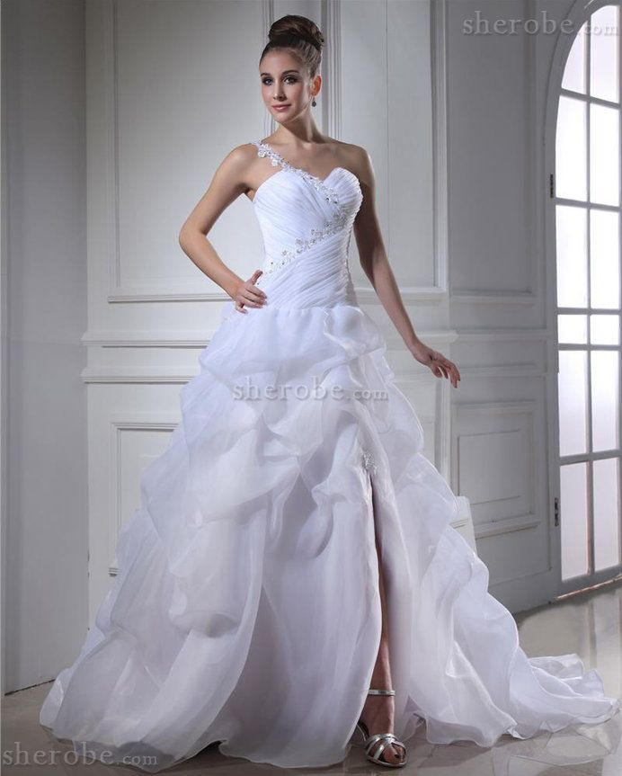 178 99 Spitze Kirche Halle Organza Bodenlanges Brautkleid Mit Applike Sherobe Fr Herbst Brautkleider Kleid Hochzeit Hochzeitskleid Elegant