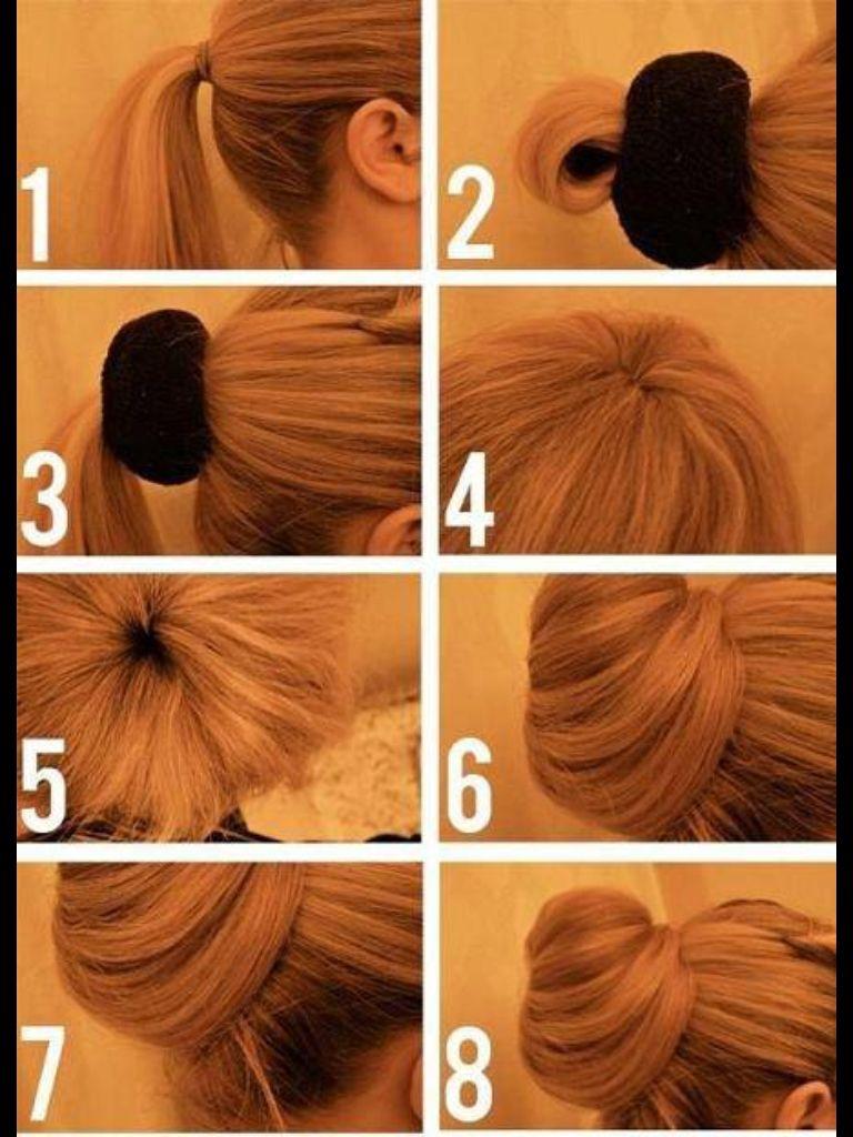 Smart donut :)  Frisuren, Haare frisieren, Duttkissen
