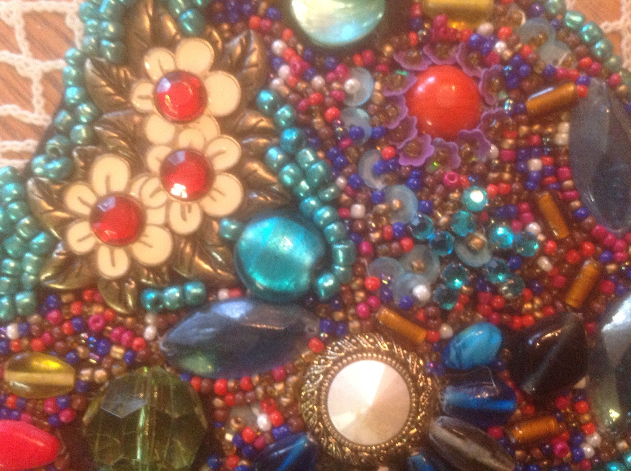 Close up of  my beaded collar