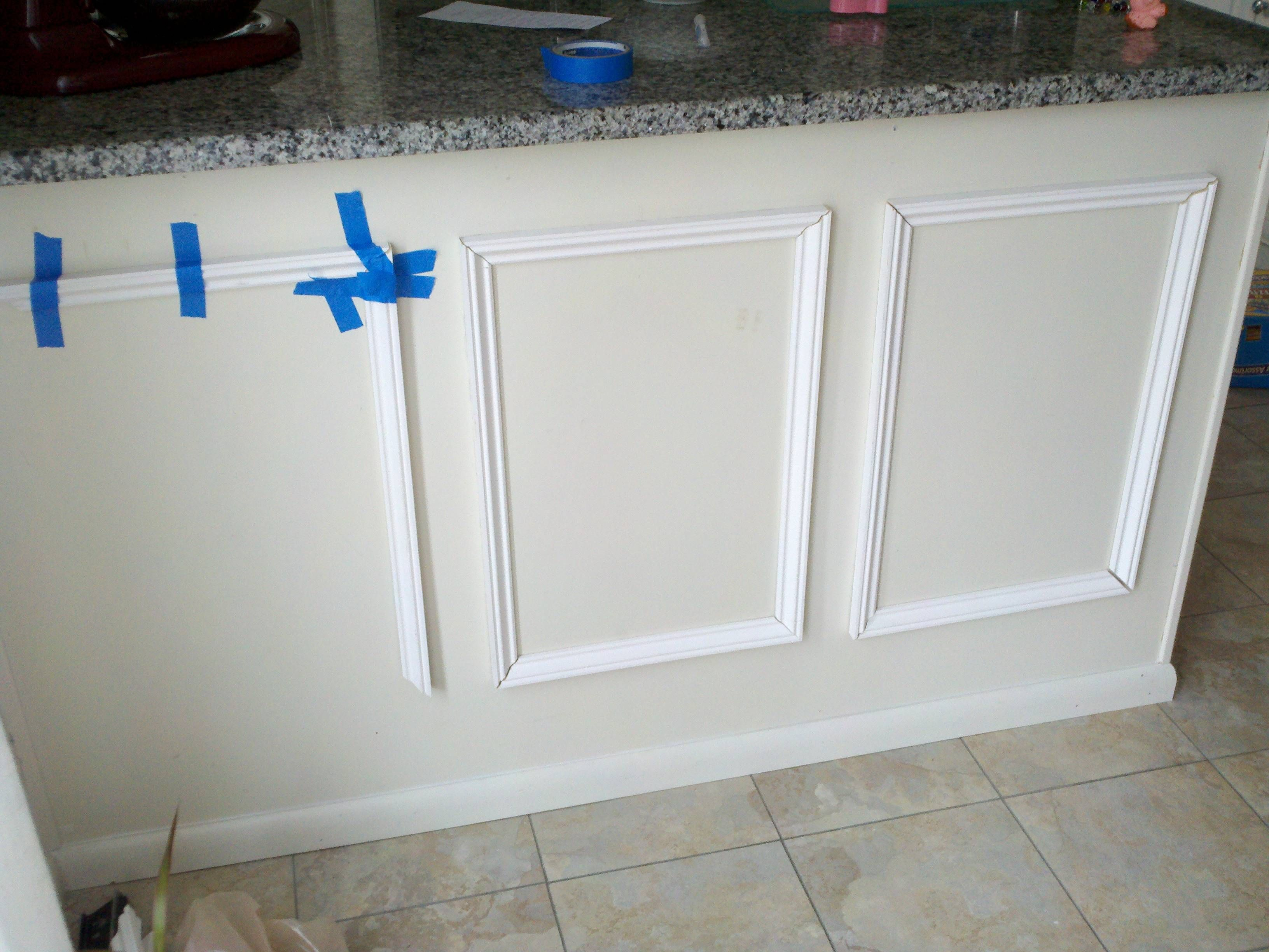 My current project: adding wainscoating to the kitchen peninsula for ...