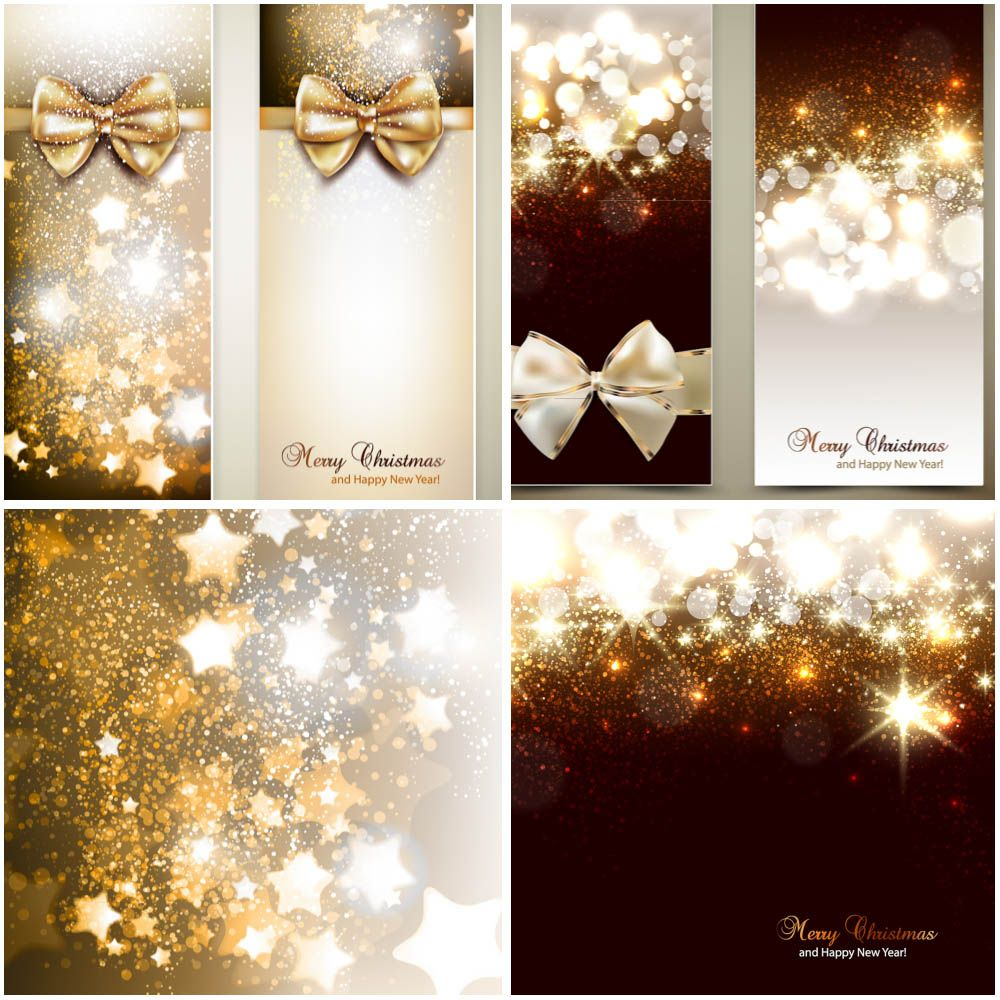 Elegant Christmas Backgrounds And Banners Vector