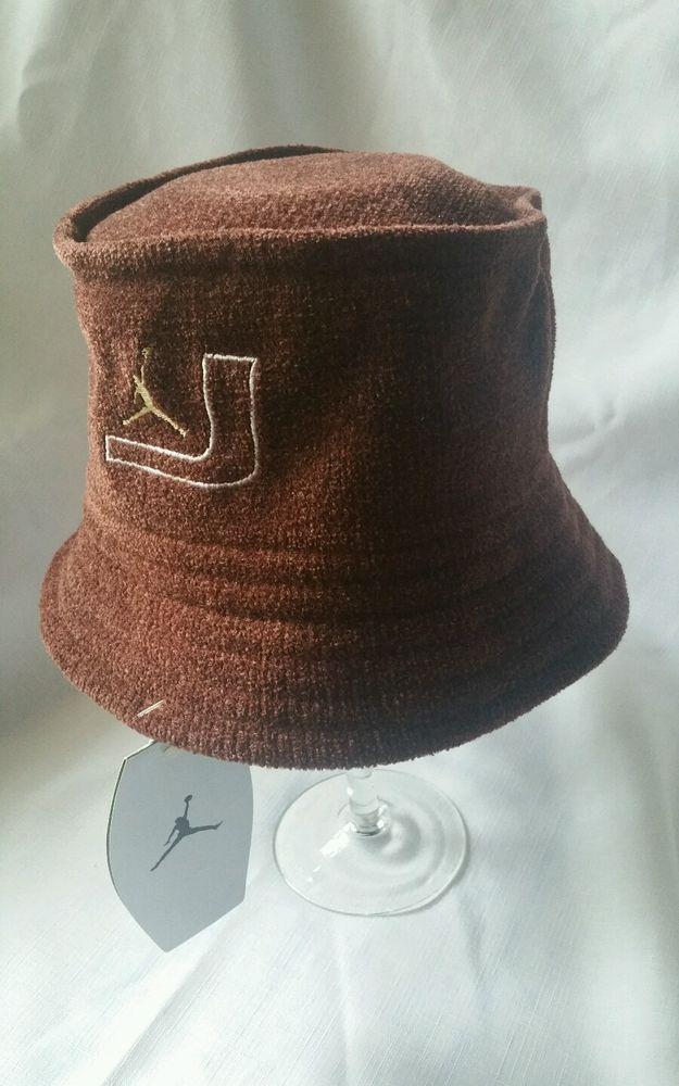 ab2c126b ... wholesale official nwt michael jordan nike bucket hat l xl brown  chicago bulls unisex from 8040f