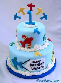 Airplane Birthday Cake For Little Boy