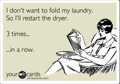 Um...the towels were still a bit damp.  Guilty.  You caught me.