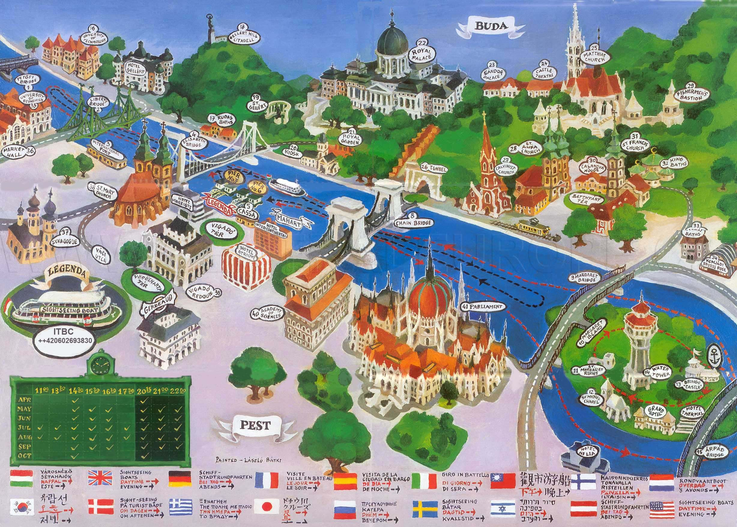 Tourist Map Of Budapest Central Europe Trip Pravibuda