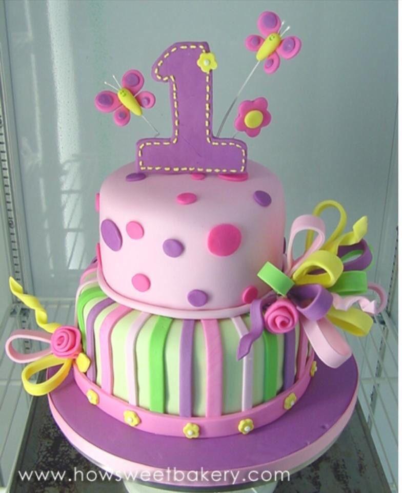 Pleasing Gorgeous Design For A Birthday Cake 1St Birthday Cakes Baby Personalised Birthday Cards Bromeletsinfo