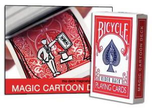 Cartoon Deck Bicycle Lovely Animation On This Great Card Effect
