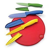 HomerLaughlin.com - Fiesta® 7pc Cutlery w/ Cutting Board