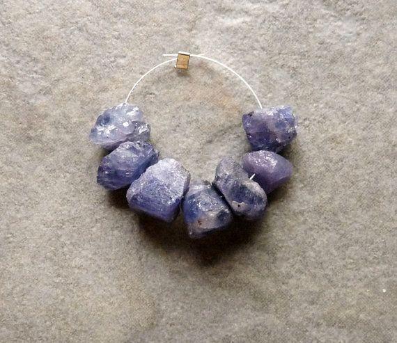 TANZANITE Rough Nugget Beads