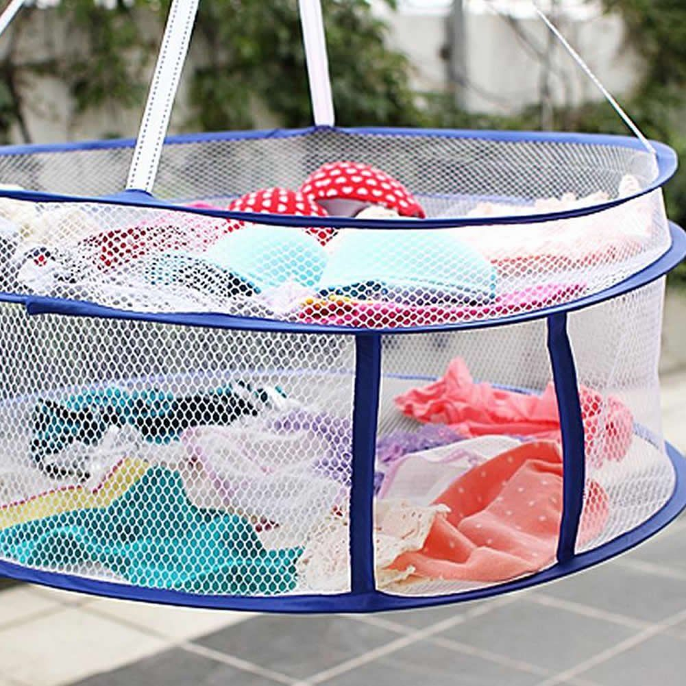Amazon.com - LING'S SHOP 2 layers Drying Rack Folding Hanging Clothes Laundry Sweater Basket Dryer Net, $6.39