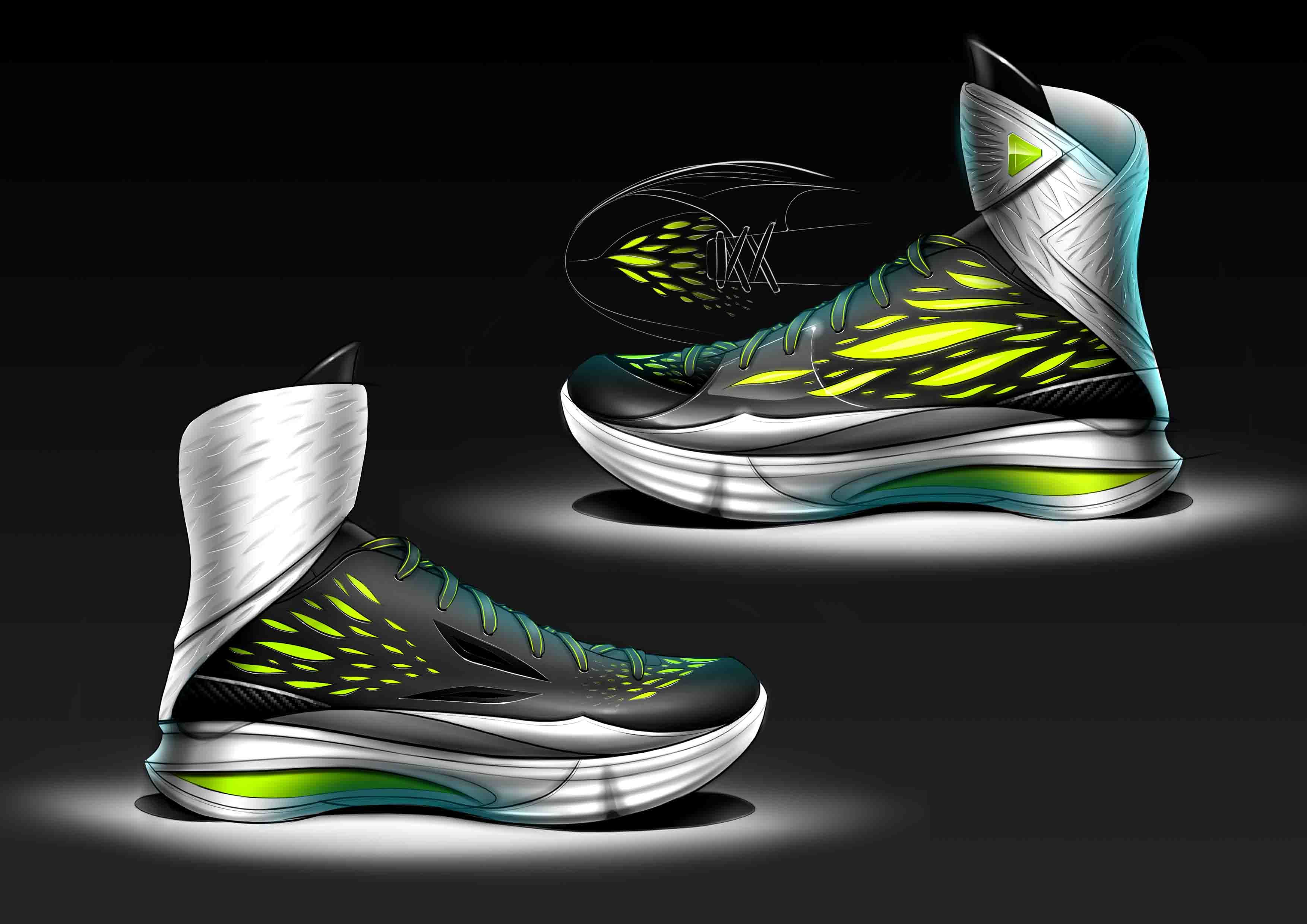 basketball shoe sketch | my design | Pinterest | Sketches ...