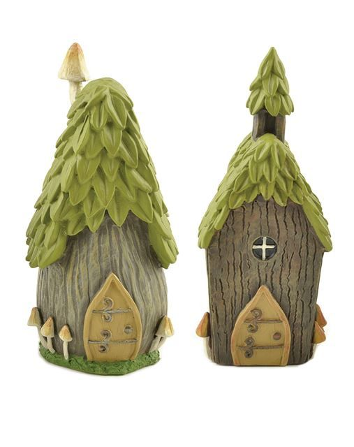 "4.5"" tall fairy houses add charm to your fairy garden."