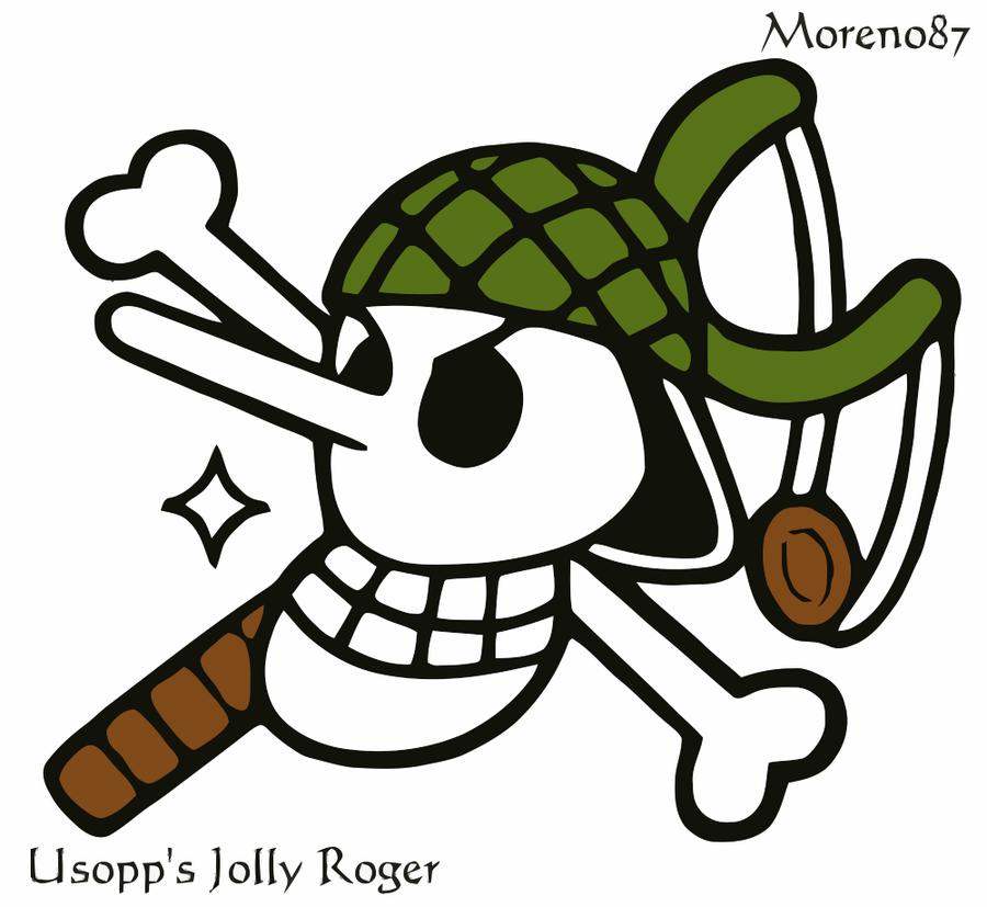 Usopp S Jolly Roger By Moreno87 On Deviantart One Piece Wallpaper Iphone Usopp Jolly Roger