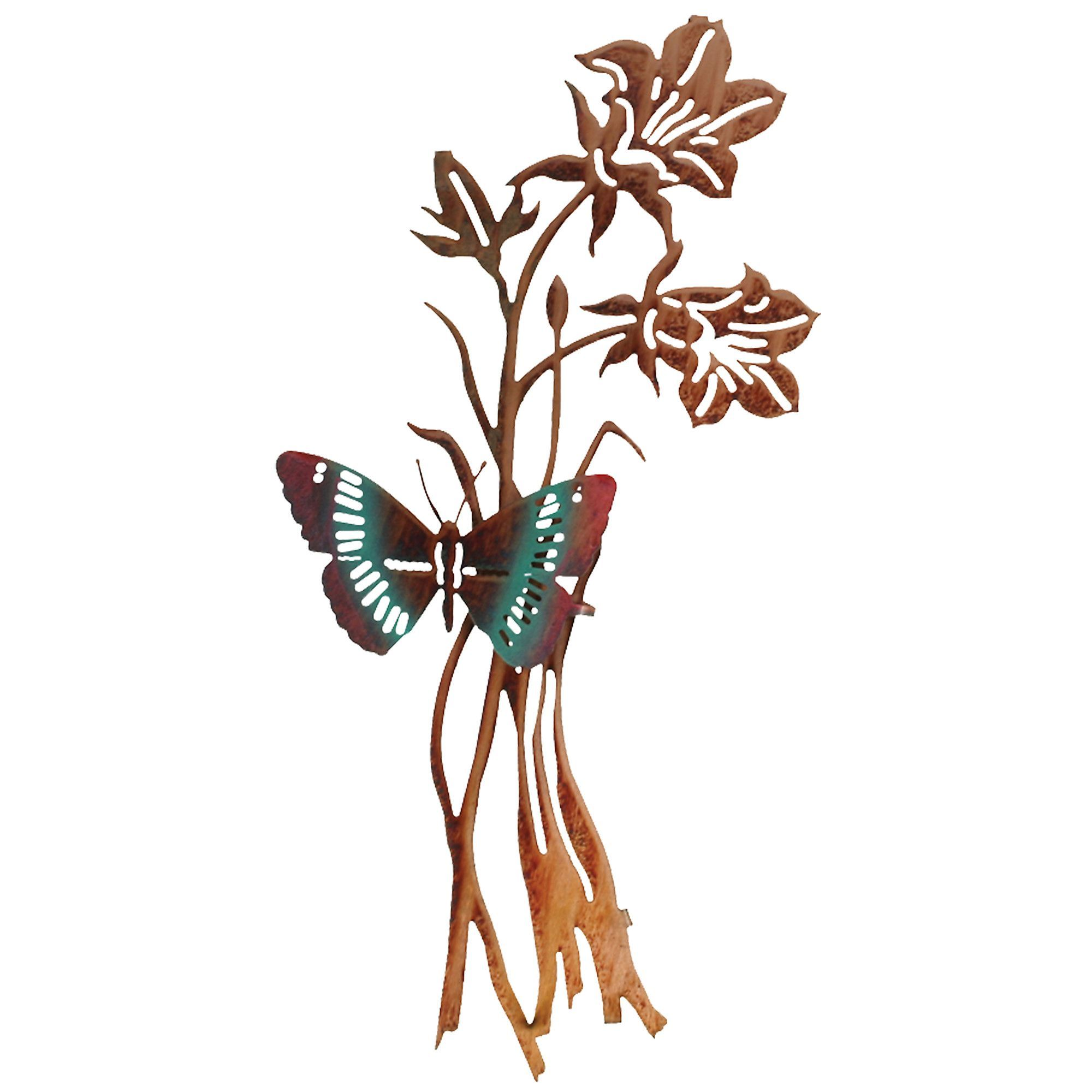3D Butterfly and Flowers Wall Decor                                                                                                                                                     More