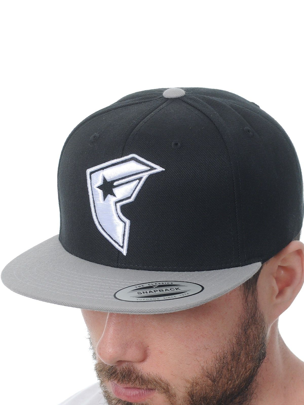 Famous Stars and Straps Black Grey Official BOH 2-Tone Snapback Cap | Famous Stars and Straps | FreestyleXtreme