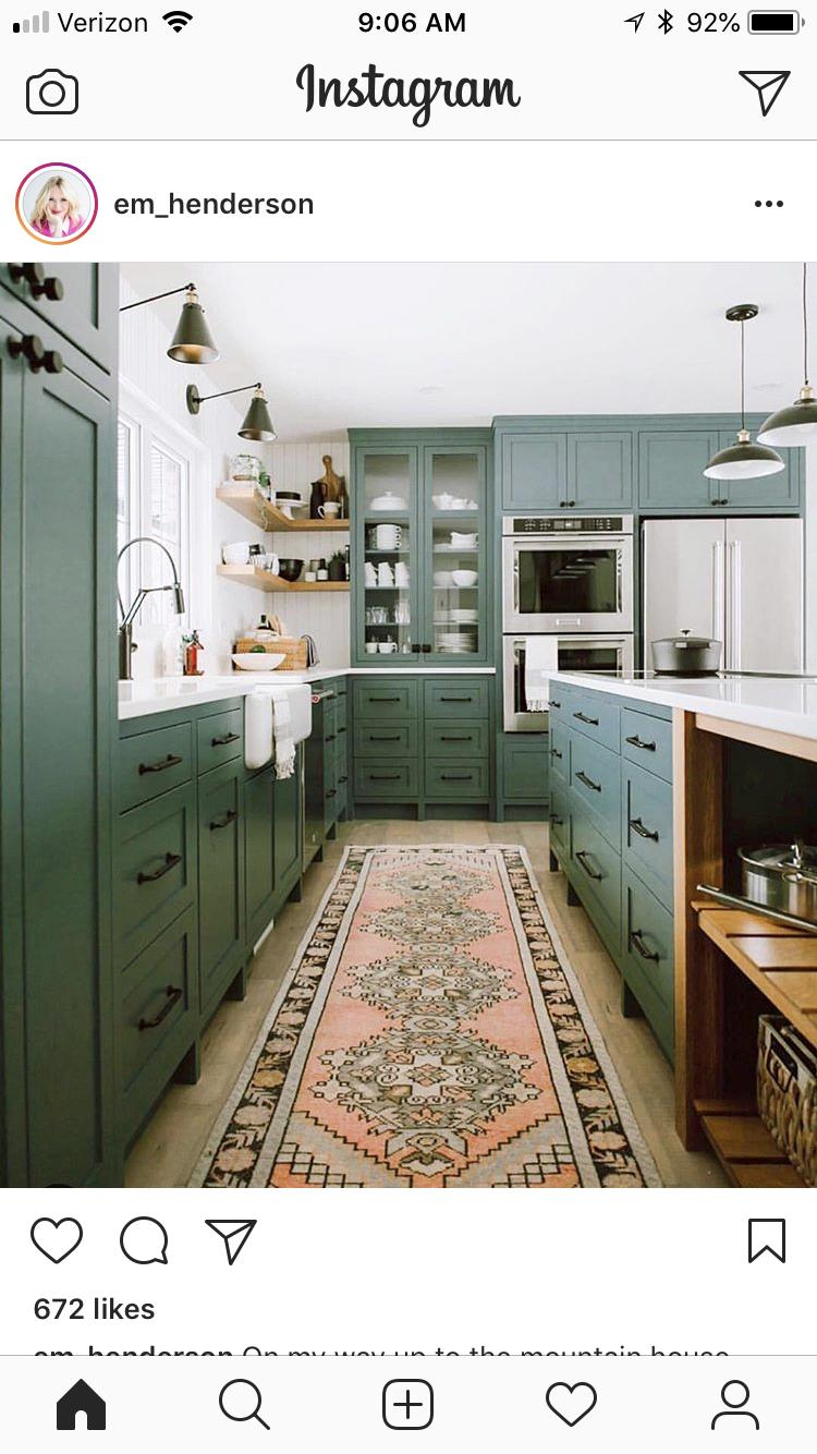 kitchen inspo  green cabinets interior design kitchen