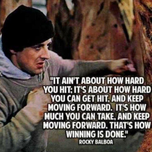 #motivationalmonday from Rocky  @burtyoungofficial  #RockyBalboa #SylvesterStallone #Rocky #quoteoftheday #dailyquote #wisdom #philosophy #motivation #discipline #physicalculture #boxing #martialarts #selfhelp #selfimprovement #brazilianjiujitsu #strengthlifestyle #Gasstationready #Jailhousestrong