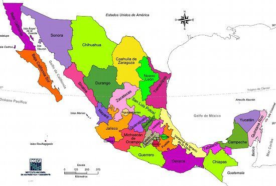 The United Mexican States Is A Federal Republic Posed Of 32: Map Of Mexico By States At Codeve.org