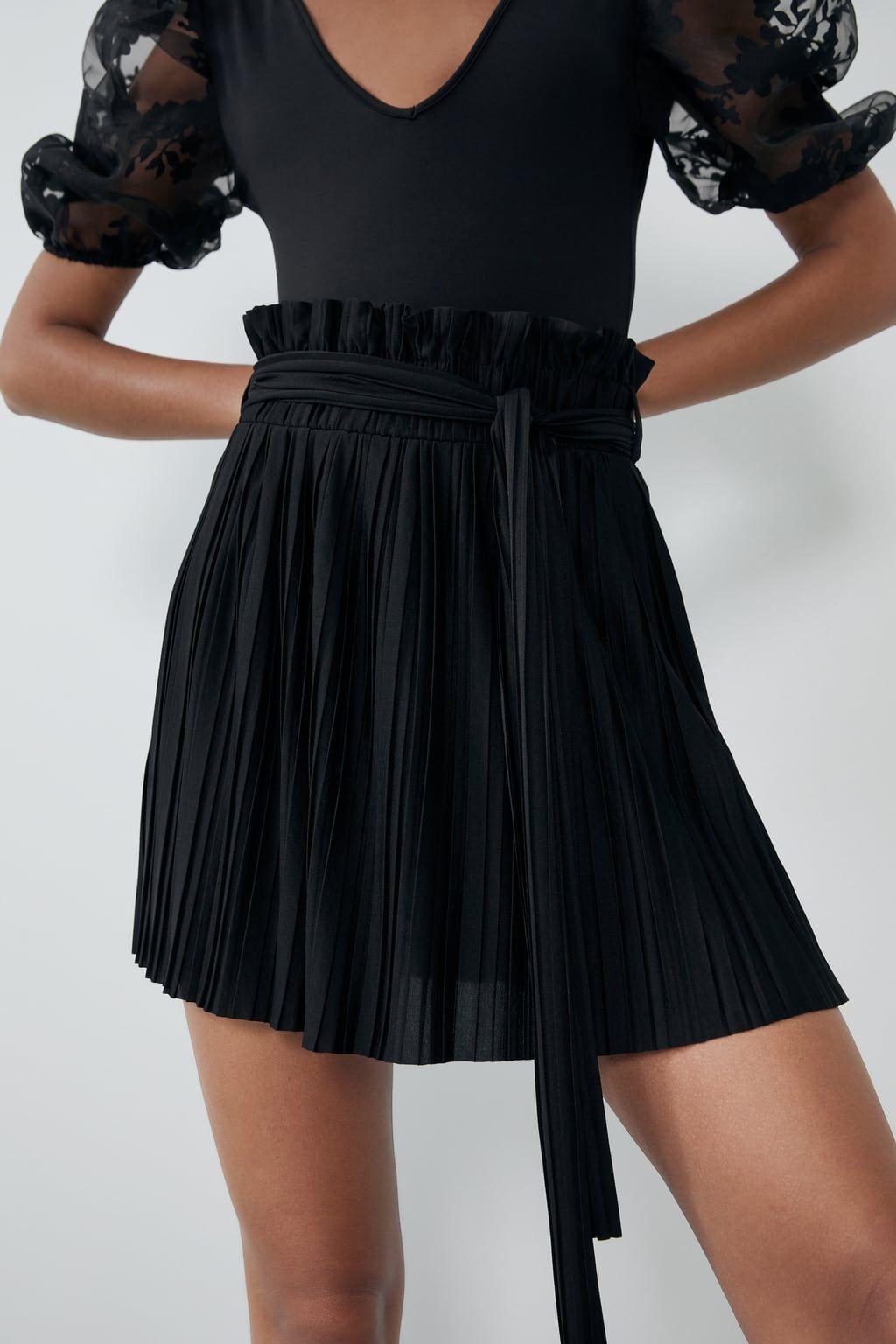 Pleated Mini Skirt View All Skirts Woman Zara United States Jupe Mini Jupe Jupe Plissee