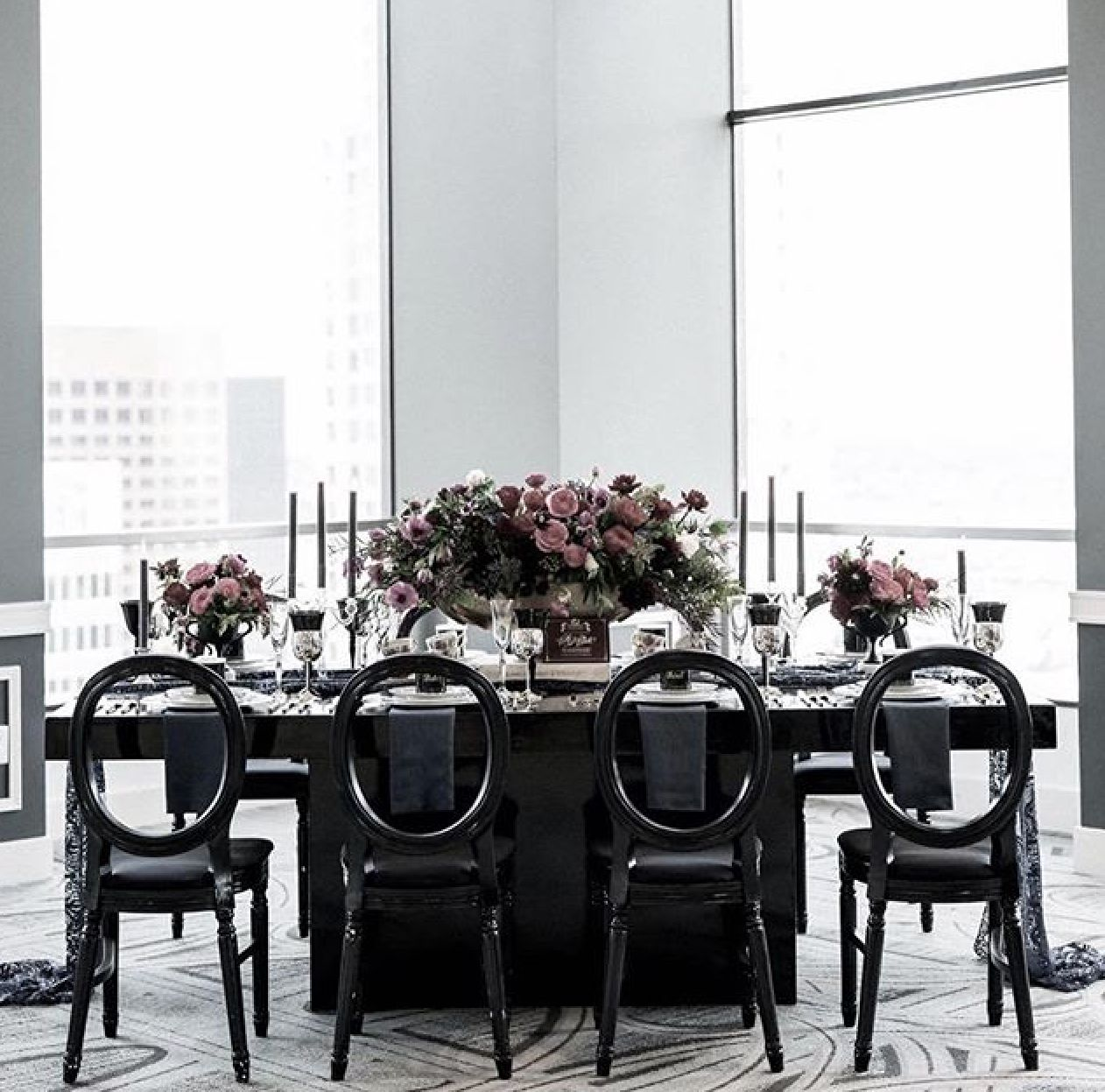 Black Friday Inspiration Black Dior Chairs And Black Glossy Table