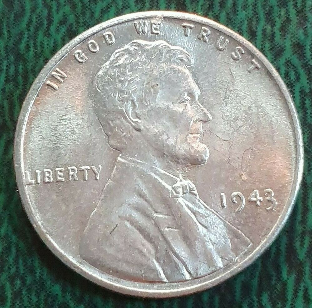 Uncirculated 1943 Rare Lincoln Wheat Penny 1c Steel Penny Die Break Error On T In 2020 Steel Penny Error Coins Rare Coins