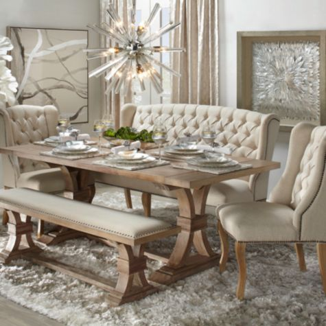 Feathered Silver 45556 In 2020 Shabby Chic Dining Room Dining