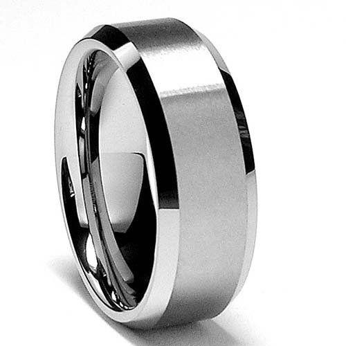 Matte Finish Men's Tungsten Ring Wedding ceremony Band