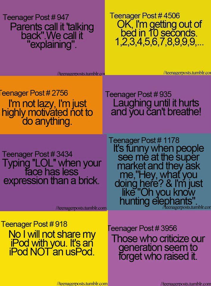 Tenager Post Teenager Posts Humor Pinterest Teen