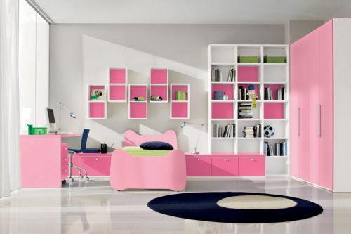 bunte-Kinderzimmermöbel-rosa-mädchen-design | Zimmer | Pinterest ...