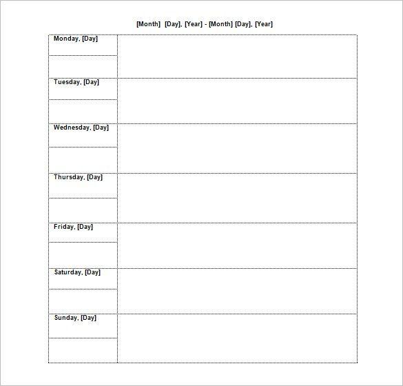 Weekly Agenda Template for Word Business Pinterest Schedule - loan amortization spreadsheet