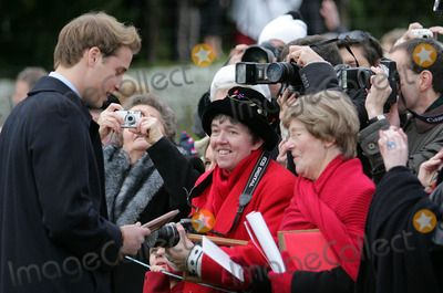 ***NO UK RIGHTS UNTIL 25.01.2006***   060137 25.12.2005 Prince William speaks to well wishers outside St Mary Magdalene's church after the Royal Family's Christmas Day service on the Sandringham estate in Norfolk 12-25-2005 A18031 PHOTO BY ALPHA-GLOBE PHOTOS