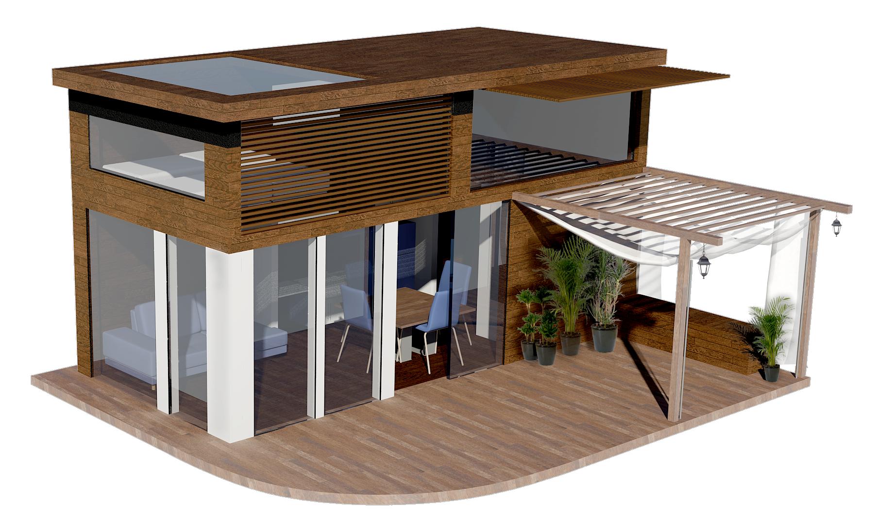 studio de jardin, HLL, maison ossature bois, bureau de jardin, HLL ...