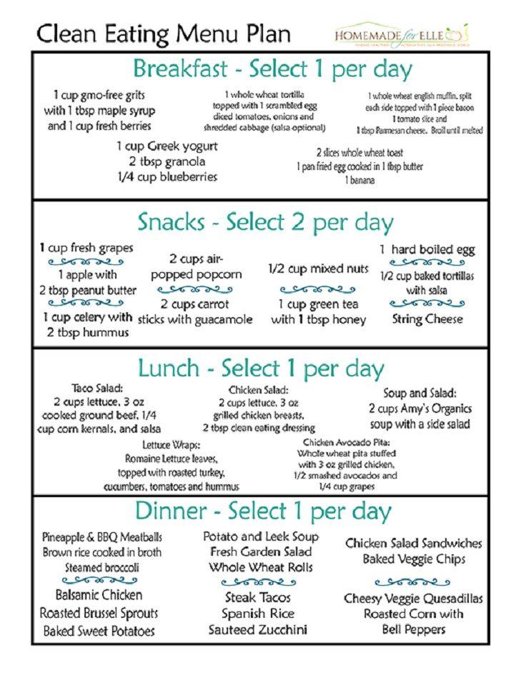 Simple Clean Eating Meal Plan 12 Trending Clean Eating