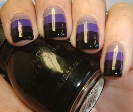 Taped purple gradient by Chloe's Nails