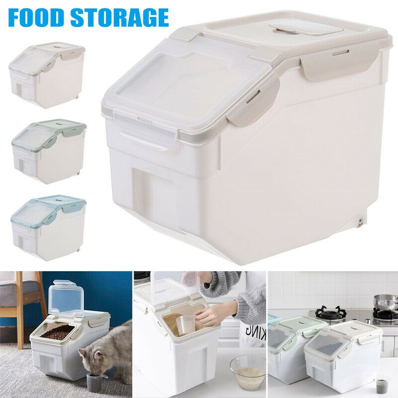 Details About Airtight Pet Food Storage Combo Container Airtight Lid Plastic Storage Container Airtight Pet Food Storage Pet Food Storage Food Animals