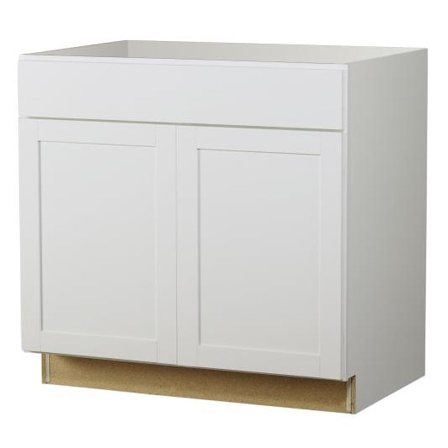 White Kitchen Cabinets In Stock: Diamond NOW Arcadia 36-in W X 35-in H X 23.75-in D White