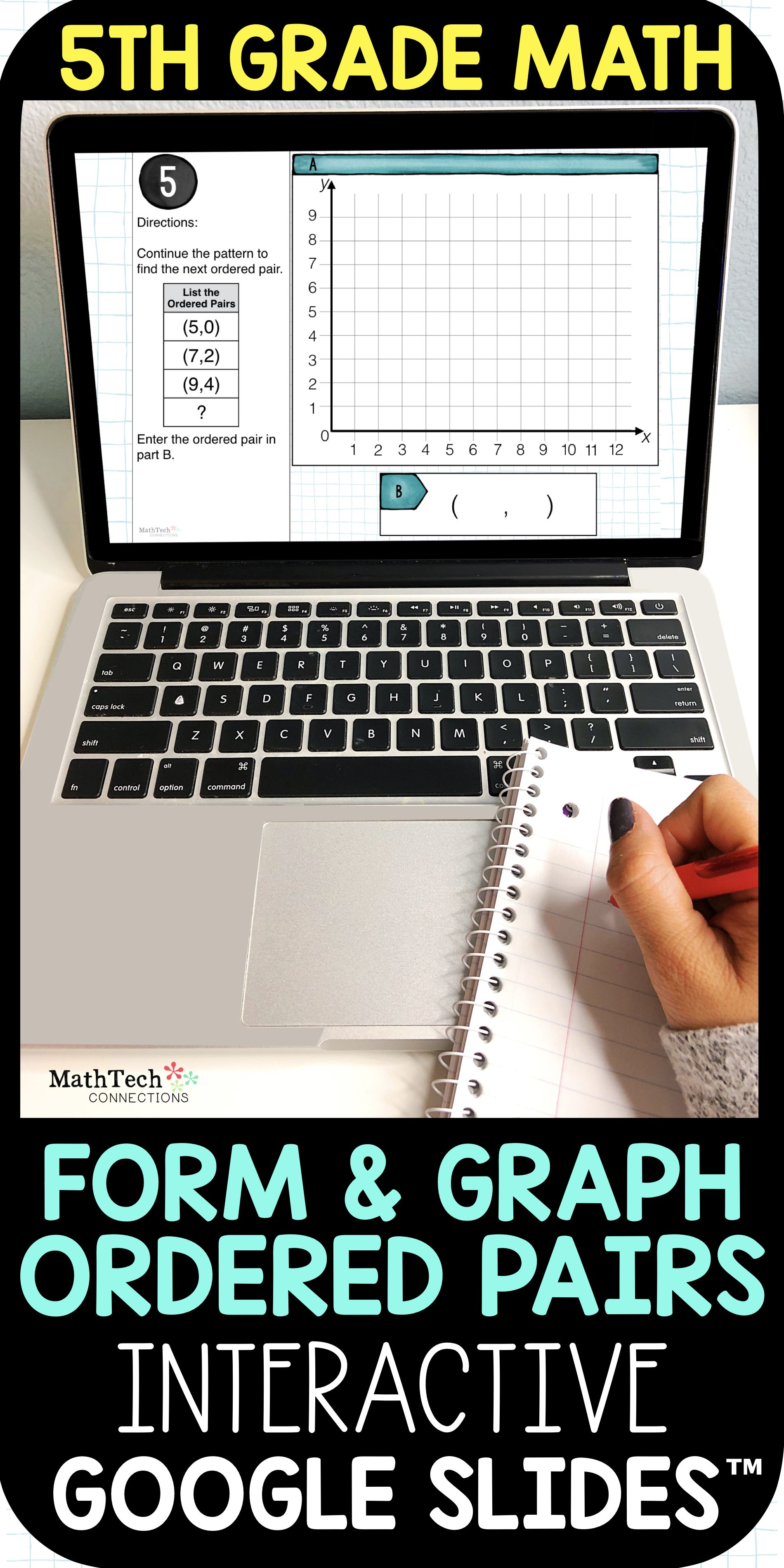 Form And Graph Ordered Pairs