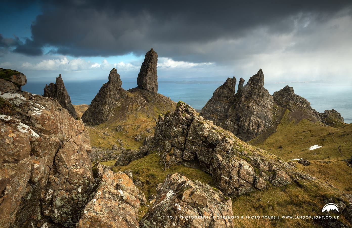 Landscape View Of Old Man Of Storr Rock Art Print Home Decor Wall Art Poster