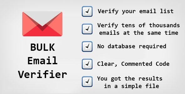 download free bulk email verifier php script address verification address verify bulk - Verify Email Address Php